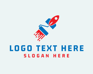 Drywall - Paint Rocket logo design