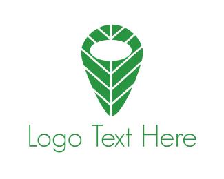 Pin - Leaf Pin logo design