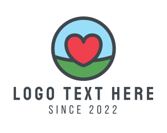 Land - Red Heart Land logo design
