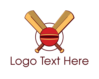 Varsity - Cricket Ball logo design