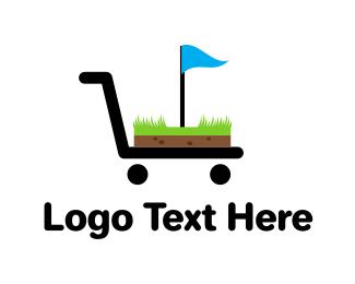 Trolley - Golf Shop logo design