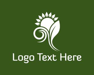 Natural - White Sunflower logo design