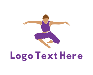 Athlete - Prancing Man logo design