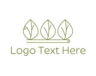 Gardener - Minimalist Green Leaves logo design