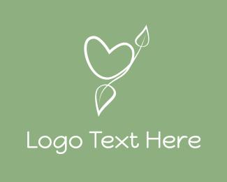 Twig - Eco Heart logo design