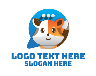 Chat - Cute Fox Chat logo design