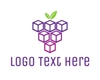 Berries - Cube Grapes logo design