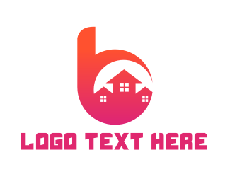 Neighborhood - Pink B Housing logo design