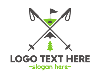 Ski - Golf & Ski logo design