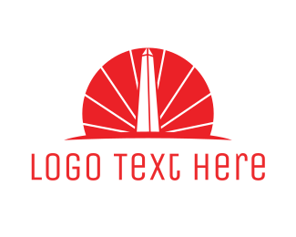 America - Red Obelisk  logo design