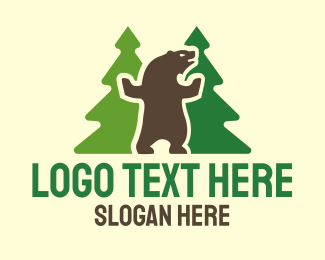Bear - Dancing Bear logo design