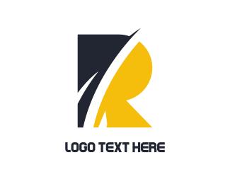 Letter R - Abstract Letter R logo design