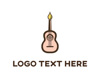 Candle - Guitar Artist logo design