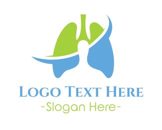 Healthy - Lung Clinic logo design