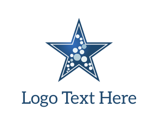Galaxy - Star & Dots logo design