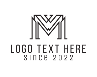 Showroom - Abstract Letter M logo design