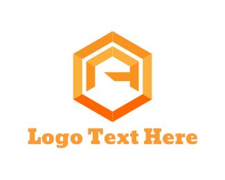 Hexagon - Hexagonal Letter A logo design