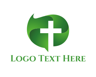 Religious - Green Cross logo design