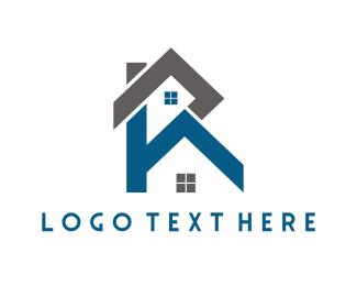 Text - Property Letter R logo design
