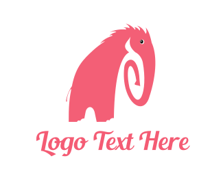 Trunk - Pink Elephant logo design