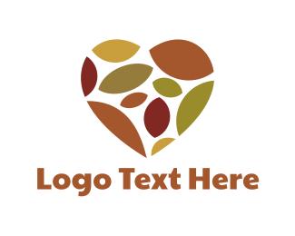 Season - Autumn Heart logo design