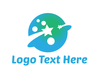 Celestial - Blue Planet logo design