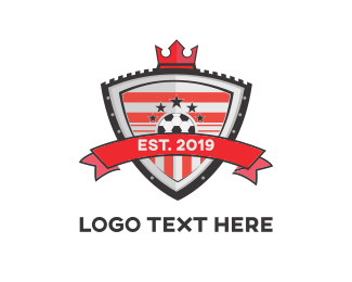Football - Royal Football Shield logo design