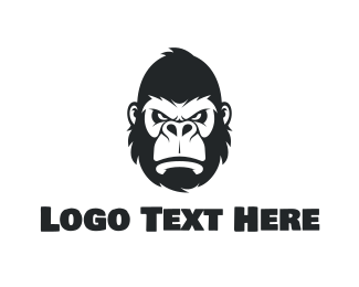 Clan - Strong Gorilla Face logo design