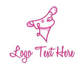 Pink Beauty Woman Logo Maker