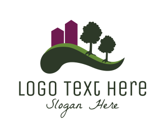 City - City Park logo design