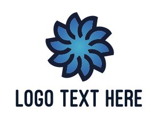 Florist - Blue Flower logo design
