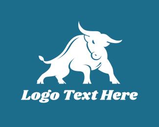 Taurus - Charging Bull logo design
