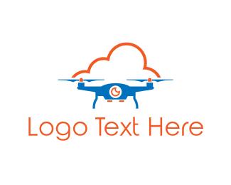Photography - Blue Drone Cloud logo design