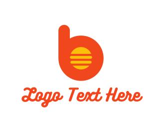 Sandwich - Burger B logo design