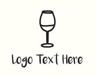 Celebration - Wine Glass logo design