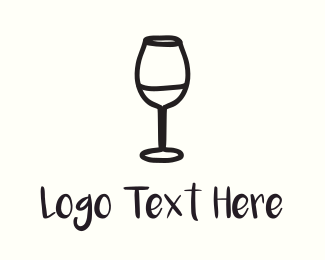Meetup - Wine Glass logo design