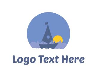 Sunset - Quill Boat logo design