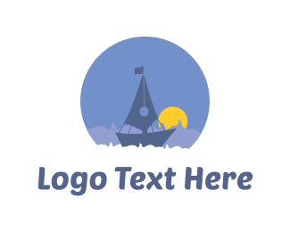 Quill - Quill Boat logo design