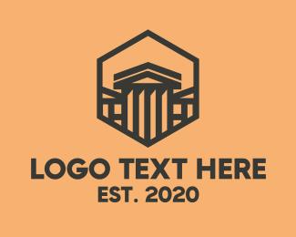 Line Art - Hexagon House logo design