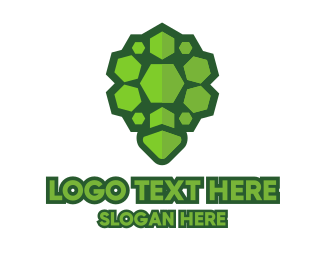 Superhero - Rock Turtle Shell logo design