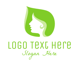 Hair Salon - Leaf Woman logo design