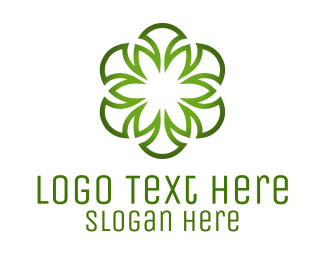 Irish - Green Flower logo design