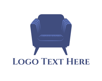 Couch - Purple Armchair logo design