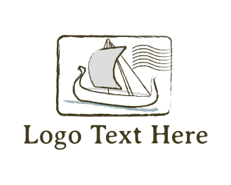 Post - Postal Boat logo design