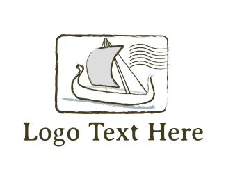 Postal Service - Postal Boat logo design