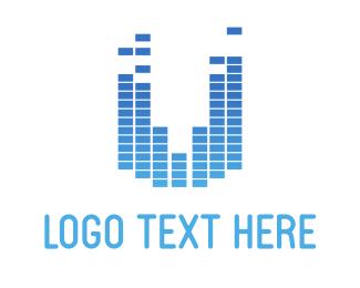 Producer - U Music Production logo design