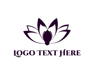 Meditate - Lotus Blossom logo design