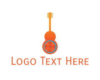 Hour - Guitar Time logo design