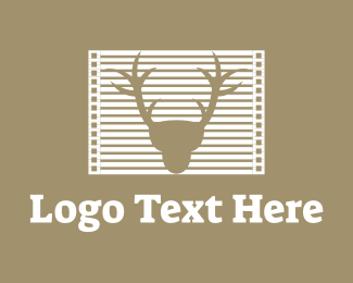 Hunt - Deer Frame logo design