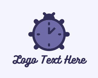 Clock - Time Beetle logo design